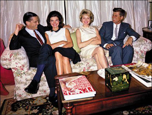 JFK with Mary Meyer (far right). Antoinette Bradlee is second on the left.