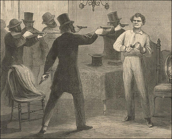 (Source 4) The Ku Klux Klan At Work: The Assassination Of G. W. Ashburn, Frank Leslie's Illustrated (1868)
