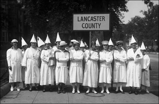 (Source 9) Women's Section of the Ku Klux Klan, Lancaster County, Pennsylvania (c. 1920)