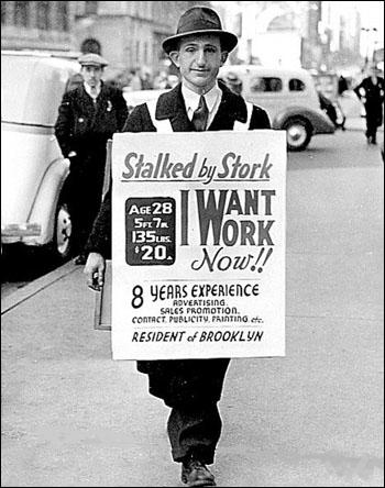 (Source 5) Photograph of unemployed man in Brooklyn (c. 1930)