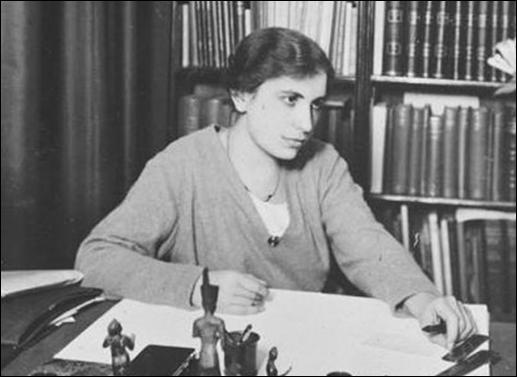 Anna Freud in her study.