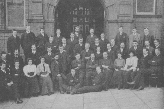 WEA class in Rochdale in 1909. Richard H. Tawney is seated, centre, front.