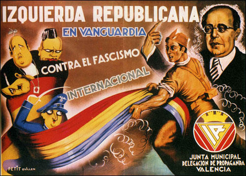 Republican poster showing President Manuel Azaña and General Francisco Franco (1936)