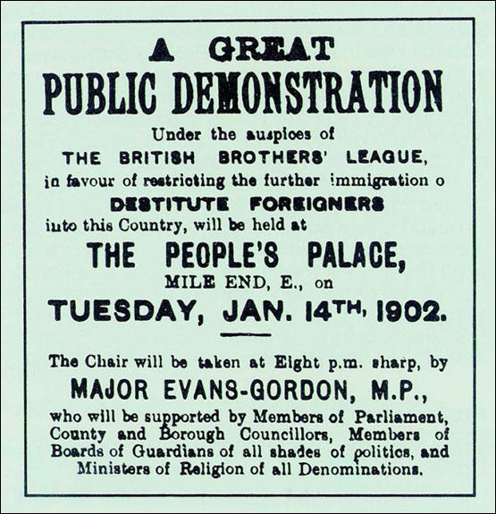 British Brothers League poster (January 1902)