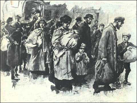 Russian Jews arriving in Britain