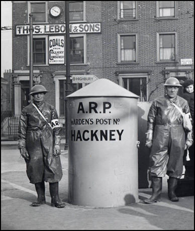 ARP post protected by sandbags (1939)