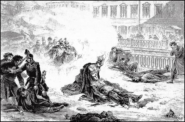 The Assanation of Alexander II by G. Broling (1881)
