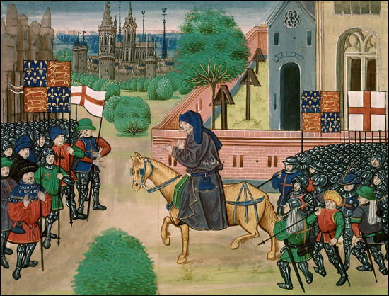John Ball at Mile End from Jean Froissart, Chronicles (c. 1395)