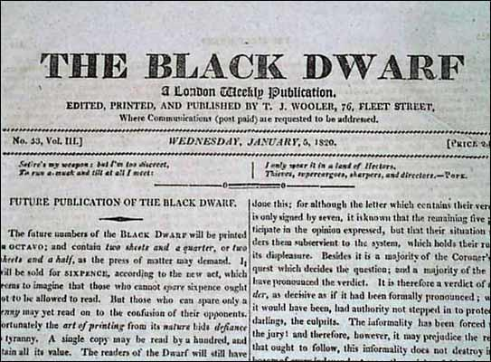 The Black Dwarf (5th January, 1820)