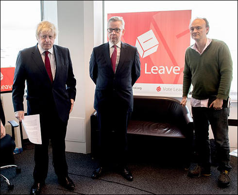 Boris Johnson, Michael Gove and Dominic Cummings