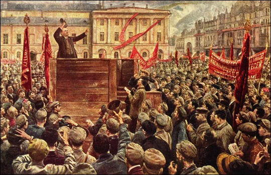 Isaac Brodsky, Lenin speaking to the Red Army on 5th May, 1920 (1933)