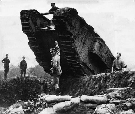A tank being used at Cambrai