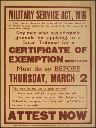 ww1 conscription Conscription was a major issue in australia during the later years of world war i  when enlistment numbers dwindled the prime minister of the time, william.
