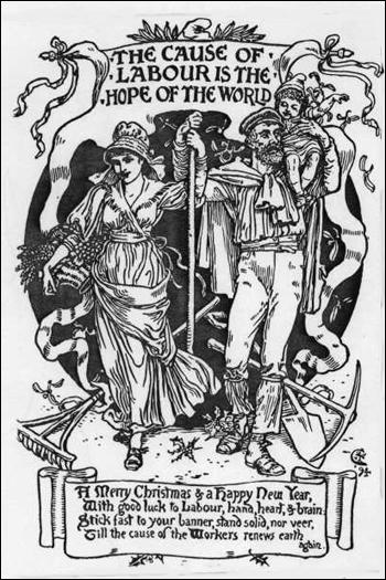 Walter Crane, A Poser for Britannia, Justice Journal (1910)