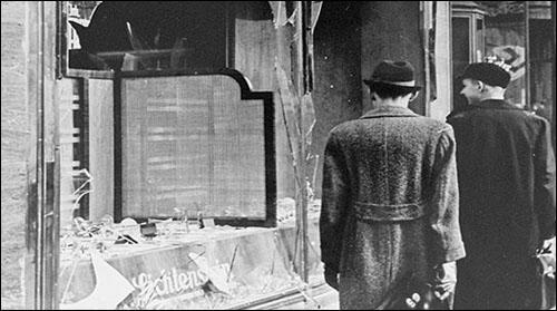 Crystal Night (Kristallnacht) in November 1938