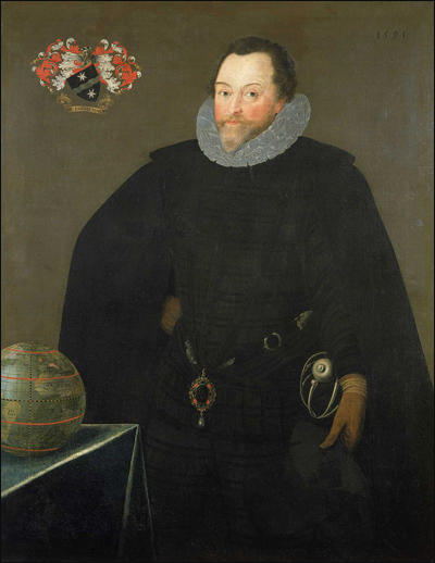 Sir Francis Drake by Nicholas Hilliard (1581)