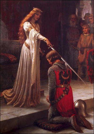 Eleanor of Aquitaine knights a follower.