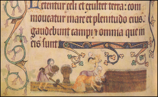 Illustration in Queen Mary's Psalter<empty>