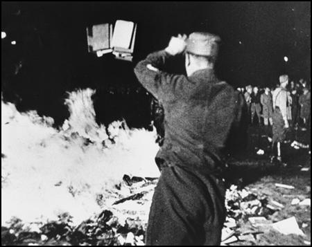 Book Burning in Nazi Germany on 10th May, 1933