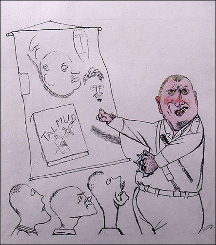 George Grosz, The Lecture by George Grosz (1935)