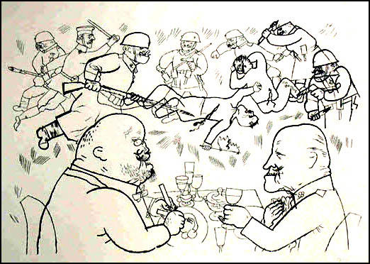 George Grosz, Communists Fall and Shares Rise (1919)