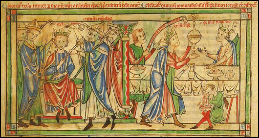 Coronation of Henry the Young in June 1170.