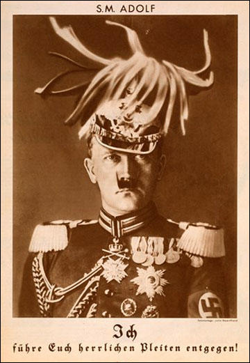 John Heartfield, His Majesty Adolf (August, 1932) (Copyright The Official John Heartfield Exhibition & Archive)