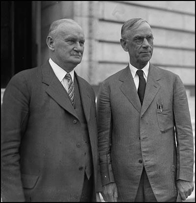 Willis C. Hawley and Reed Smoot (April, 1929)