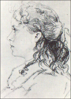 Drawing of Karen Danielsen aged 15 (1900)
