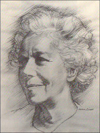 Drawing of Karen Horney by Arthur Libov (c. 1940)