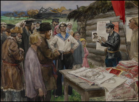 Ivan Vladimirov, A lesson on communism for the Russian peasants (1922)