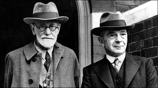 Sigmund Freud with Ernest Jones