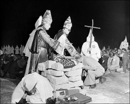 (Source 14) Ku Klux Klan initiation ceremony in Georgia (May, 1946)