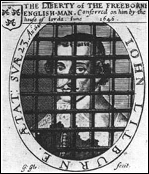 This picture of John Lilburne appeared on thefront-cover of a Leveller pamphlet published in 1646.
