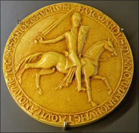 Richard the Lionheart's seal (c. 1190)