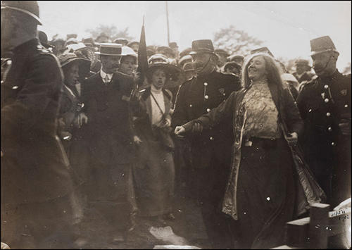 Sylvia Pankhurst recovering from hunger strike in July 1913.