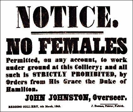 Notice at Redding Colliery (4th March, 1845)
