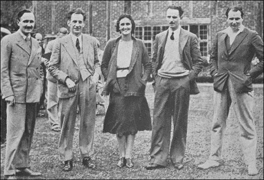 William E. Allen, Robert Forgan, Cynthia Mosley, Oswald Mosley and John Strachey (June, 1931)