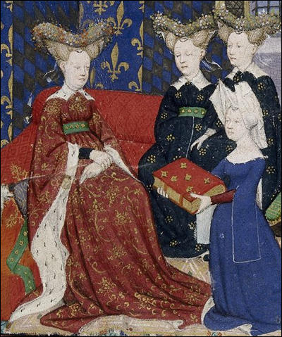(Source 1) Christine de Pisan presents her book to Isabeau of Bavaria, Queen of France