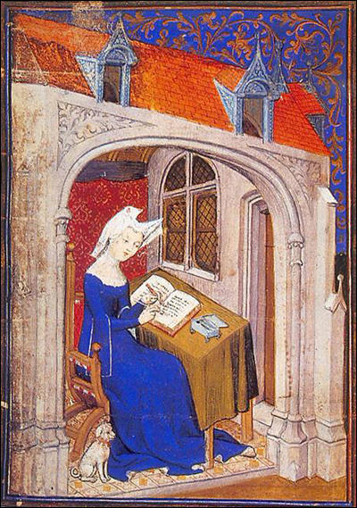 Christine de Pisan presents her book to Isabeau of Bavaria, Queen of France