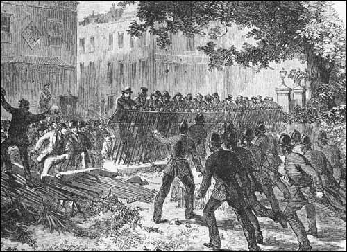 Reform League demonstration in Hyde Park, Illustrated London News (23rd July 1866)