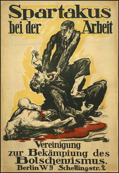Anti-Spartacus League poster (1919)