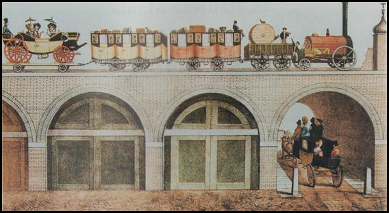 (Source 7) The London and Greenwich Railroad was built upon a viaduct of 878 brick arches (1833)