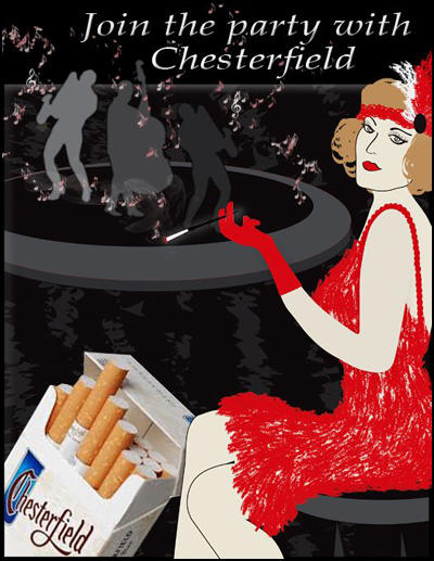(Source 17) Advertisement for Chesterfield cigarettes (1920s)