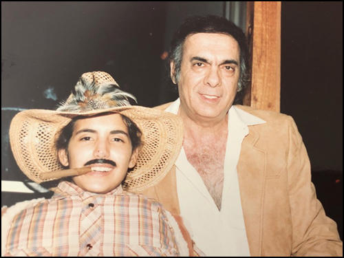 Bernardo De Torres with his son (c. 1985)