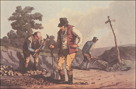 Stone-breakers appeared in George Walker, The Costume of Yorkshire (1814)