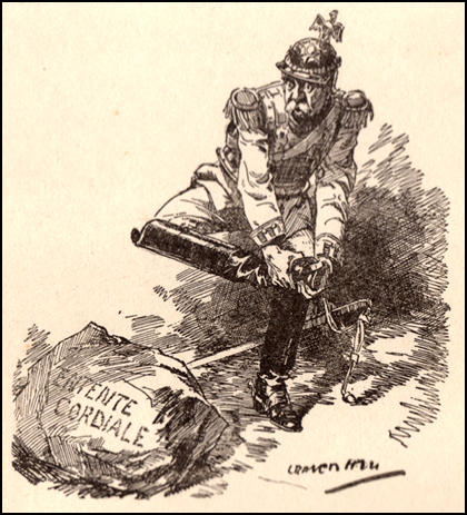 "Germany: ""Donnerwetter! It's rock. I thought it was going to be paper."" Leonard Raven-Hill, Solid (2nd August, 1911)"
