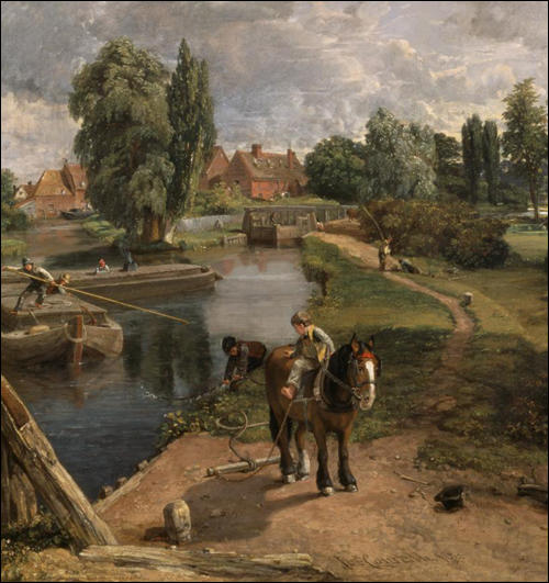 John Constable painted this picture of a navigable river at East Bergholt in Essex in 1817