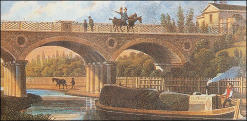 A painting of the Regent's Canal in 1827