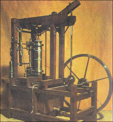 (Source 10) Model of a steam engine made by James Watt in 1769.